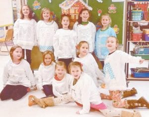 The Daisy Girls at West Whitesburg Elementary School decorated their shirts for the Christmas Parade in downtown Whitesburg Dec. 11. Lace, fur, pearls, ribbons, snowflakes, and gems were used to make them shine. Pictured are (back row, left to right) Macey Warf, Raegan Turner, Anna Little, Emma Pavilick, Paige Caudill, (front row) Josie Maggard, Chloe Hall, Kirsten Caudill, Brooklyn Howard, Anna Hatton and Ava Thomas. Not pictured are Mia Bates and McKynlee Thomas.