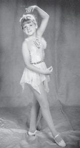 Rocki Hatton Hill is pictured at six years old in her dance outfit. She is the daughter of Robert Hatton and the late Joan Trent Hatton, and is the granddaughter of Oma Hatton.