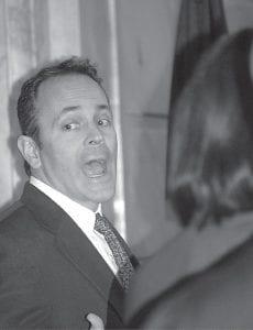 "PREDICTION: New Kentucky Governor Matt Bevin, seen in Frankfort Tuesday, will ""transform"" Kynect. (KPA Photo by Teresa Revlett)"