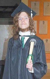 Corey Wright was graduated from Marshall University in Huntington, W.Va., on December 12 with a Master of Arts degree with an emphasis in creative writing. He was graduated magna cum laude. Wright is the son of Chad and Vickie Wright of Jenkins. He is the grandson of Jesse and Esther Wright of Payne Gap, and Joe and Arlene Fleming of Dandridge, Tenn. His great-grandmother is Jewel King of Cromona. Wright is pursuing a position at Full Sail University in Winter Park, Fla.