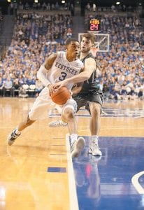 DISRESPECTED — Tyler Ulis has seven games in which he has scored 20 or more points. He also has more than 100 assists this season, but ESPN analyst Dan Dakich continues to taunt UK fans by saying Ulis is not one of the nation's top five point guards. (Photo by Vicky Graff )