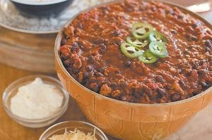 Everyone has a favorite chili recipe, and this is the time of year to break out yours, invite some friends over and yell at some football players on TV. (AP Photo/Matthew Mead)