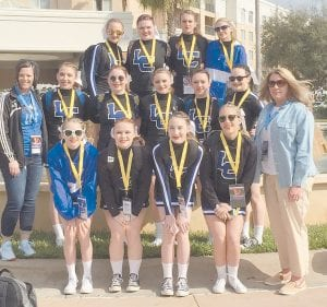 After winning the UCA Smoky Mountain Regional Championship in December, the Letcher County Central High School cheerleaders received a bid to compete at the UCA National High School Cheerleading Competition held a Disney World, Orlando, Fla., on Feb. 6-8. The LCC cheerleaders placed fourth in the nation, competing in Small Division II Varsity against 43 high school cheerleading teams. The LCC cheerleaders also performed two perfect routines during semi and finals.