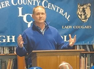 Junior Matthews is the new football coach at Letcher County Central High School.