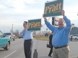 Kentucky Governor Matt Bevin tried to help Republican Phillip Pratt defeat Democrat Chuck Tackett in Tuesday's special election in the 62nd House District in central Kentucky but the effort failed. (AP photo)