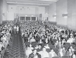 The Isaac family, owners of the Alene Theatre, commissioned Wainscott Studios of Cumberland to take photos of the new theatre at its opening in 1950. Construction of the theatre began 67 springs ago.