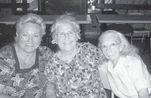 Pictured are Vickie Hatton Underwood of Carey, Ohio, who subscribes to The Mountain Eagle; Whitesburg correspondent Oma Hatton, and Hazel Hatton Hart of Letcher.