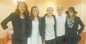The Whitesburg Middle School speech team members who advanced to the Kentucky High School Speech League state tournament are (left to right) Ashley Vanover, Gracie Hatton, Maddy Parsons and Kaci McCown.