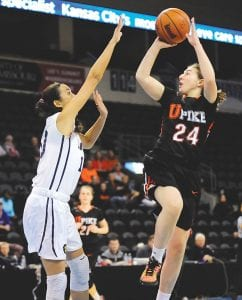 Former Letcher Central High School star Kelah Eldridge was one of UPike's brightest stars during the NAIA National Championship Tournament in Kansas City. (Photo courtesy Appalachian News-Express)