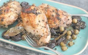 This recipe produces chicken that is unfailingly moist and can be made ahead. (AP Photo/Matthew Mead)