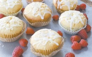 This photo shows lemon raspberry pound cake muffins. These rich muffins are well suited to dessert, but also would be fine for an indulgent breakfast. (AP Photo)