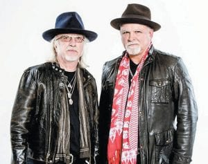 Rock and Roll Hall of Fame members Brad Whitford (top left), the rhythm guitarist for Aerosmith, and former Deep Purple bassist and vocalist Glenn Hughes (pictured at right) will be performing later this spring and summer at Appalshop Theater in Whitesburg. Hughes, who was inducted into the Hall of Fame earlier this month, will perform here August 24. Whitford and Derek St. Holmes (pictured with Whitford), will team for a June 12 appearance at Appalshop. St. Holmes was the rhythm guitarist for Ted Nugent during Nugent's successful mid-Seventies-era albums such as 'Free-for-All' and 'Cat Scratch Fever.'