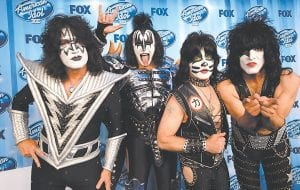 KISS will perform live in the region this fall. The Rock and Roll Hall of Fame band is scheduled to appear at Big Sandy Superstore Arena in Huntington, West Virginia on Saturday, September 10. Good seats still remain in the small arena, but are selling quickly. Person wishing more information may call the arena box office at 1-304-696-5990 or visit www.ticketmaster.com. Current members of KISS are (from left) Tommy Thayer, Gene Simmons, Eric Singer, and Paul Stanley. Huntington will be the final stop — and the only regional performance — on their latest tour, which begins July 7 in Boise, Idaho. (AP Photo)