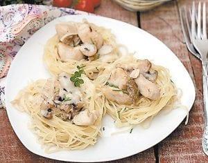 Chicken Tetrazzini With Spring Peas Casserole