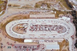 Kingsport Speedway opened in 1965 as a high-banked dirt track, but was covered in asphalt in the spring of 1969. In 1984, the asphalt was peeled away and dirt racing returned. The surface is now concrete.
