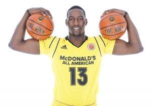 "Bam Adebayo is a player University of Kentucky coach John Calipari says can be the ""beast"" that UK lacked last season to win the national basketball championship. (McDonald's All-American Photo)"