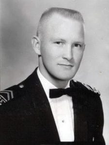 Lt. James N. Spangler is seen as a cadet at the Air Force Academy. Spangler was buried here 50 years ago.