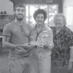 Blake Watts is the recipient of the 2016 Letcher County Extension Homemaker College Scholarship. He is a 2016 graduate of Letcher County Central High School. Pictured (left to right) are Blake Watts, Letcher County Extension Homemaker President Vernell Mullins and Ann Bradley, County Extension Agent for Family & Consumer Sciences