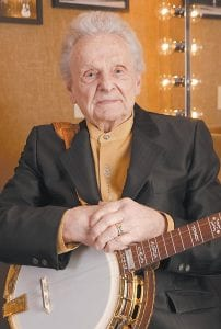 Ralph Stanley was photographed looking out a window while sitting in the living room of the Stanley home outside of Coeburn, Va. in January 2012.