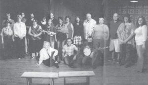 "Pictured is the cast of ""Roots and Branches"", a play based on the oral history of Letcher County."