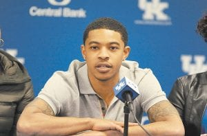 Various national media members believe the Phoenix Suns made a wise decision by taking Tyler Ulis in the second round of the NBA Draft after others had passed on him. (Photo by Vicky Graff )