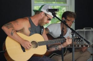Jesse Keith Whitley, son of the late Keith Whitley and Lorrie Morgan, was busy at River Park in Whitesburg Monday afternoon conducting a soundcheck for his mother, country star Lorrie Morgan, who is headlining a free Fourth of July concert sponsored by the City of Whitesburg. Morgan is scheduled to take the stage at approximately 8 p.m. City officials and Morgan invite all citizens to attend.