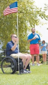 Former UK football standout Jacob Tamme, who now plays for the Atlanta Falcons, and his wife take great pride in Swings for Soldiers Classic, a golf fundraiser they started seven years ago to build specially adapted homes for wounded veterans. (Blue 6 Media Photo)