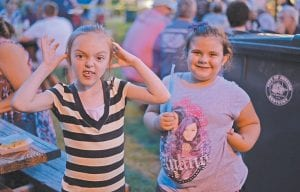 Zoey Balloter, left, and Wendy Burke had fun while posing for this photo at the festival.