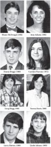 Pictured above are some of the Whitesburg High School graduates who later became married to each other.