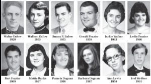 Pictured above are some parents and their children who attended Whitesburg High School.