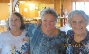 Alberta Barker, Vickie Underwood and Oma Hatton were among those who were present at the Cowan Community Center for the Hatton family reunion.