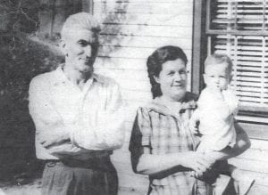 HOWARD FAMILY — Pictured are Bill and Cindy Howard with Bobby Ray Howard.
