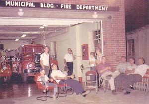 Firemen relaxing in front of the old city hall was once a common scene in downtown Whitesburg. The building now serves as the home of The Mountain Eagle.