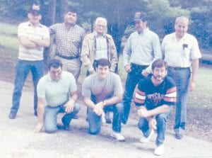 Pictured at a family reunion which took place in 1988 are the late Bill Howard with his seven sons, the late Eddie Howard, Hubert Howard, John Howard, Jack Howard, Charles Howard, Bobby Ray Howard and Hillard Howard.