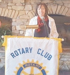 "Elizabeth Barrett recent spoke to Rotary Club of Whitesburg members about a new Appalshop project in Jenkins, entitled ""A City Built on Coal: Jenkins, Kentucky'."