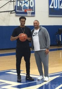 Highly-touted recruit P.J. Washington, pictured with his father above, will be back at Big Blue Madness for an unofficial visit so he can get a feel for what UK fans are like.