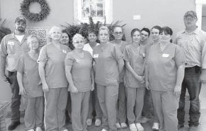 """In honor of National Environmental Services Week , Letcher Manor provided its housekeeping, laundry and maintenance staff with a dinner and a gift of appreciation. Letcher Manor officials said, """"We are truly honored to have such a great team who is dedicated in making our environment clean. Thank you for the difference you make each and every day!"""""""