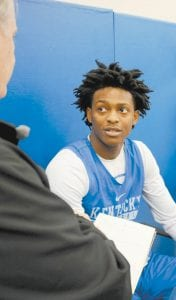De'Aaron Fox has the skills to be Russell Westbrook-type point guard based on what Western Kentucky coach Rick Stansbury saw when he watched him in high school. (Photo by Vicky Graff )
