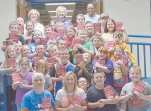 Third grade students at Cowan Elementary school recently received dictionaries from the Whitesburg Rotary Club. Dictionaries were given to all third-grade students in Letcher County.