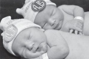 — Daniel Martin Jones and Andrew Scott Jones were born Sept. 16 in London. They are the sons of Marty and Aimee Jones of Williamsburg. Their grandparents are Margaret Jones of Williamsburg and the late Russell Jones, and Marty and Karen Mullins of Whitesburg. They are the great-grandchildren of Mickey Bentley of Seco.