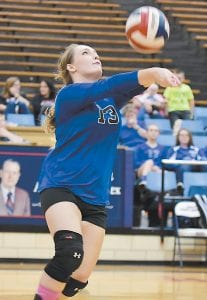LCC senior Shelbi Kincaid was named Most Valuable Player in the 53rd District Volleyball Tournament.