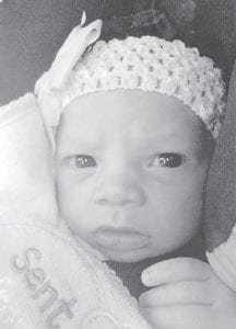 — Harmanie Noelle Trulayne Thompson was born Oct. 21 in Whitesburg. She is the daughter of Nate Thompson and Kaci Lucas of Whitesburg. Her grandparents are Timothy and Kimberly Lucas of Whitesburg, and Truman and Juanita Thompson, also of Whitesburg. She is the younger sister of Aubri Nyasia Thompson, 3.