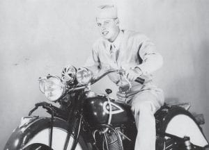 Whitesburg resident and World War II hero Paul Pigman was photographed on a motorcycle during his service years in the 1940s. Pigman will celebrate his 93rd birthday on November 28.