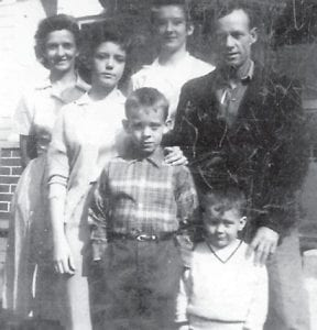HATTON FAMILY — Pictured in 1962 are members of the Hatton family, Juanita, Sharon, Joyce, Billy Lee and Jimmy D. (Photo by Elzie Ray Hatton)