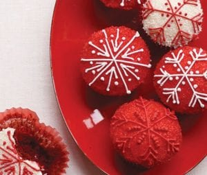 Red Velvet Christmas Cupcakes. (Woman's Day photo)