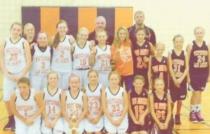 In addition to winning the A Team tournament, the Whitesburg Lady Jackets also took first place in the Letcher County B, C and D Team tournaments. Pictured are (left to right, front row) Madison Caudill, Heidi Bentley, Kylee Bates, Kyleigh Wright, Emma Morton, Emma Pavlik, Taylor Back, (back row) Courtney Hayes, Coach Amanda Sturgill, Harley Driskell, Kiera Couch, Gracie Hatton, Gracie Parsons, Coach Marvin Boggs, Kaci McCown, Coach Jeremy Hayes, Sierra Mullins, Kylie Williams, Hope Roark and Triniti Whitaker. Not pictured are Kaleigh Jones, Ariana McMurl and Haley Maggard.