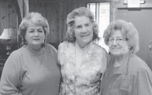 Whitesburg correspondent Oma Hatton (center) is pictured with her cousin, the late Dorthy Miles, and her sister, the late Kathleen Brock.