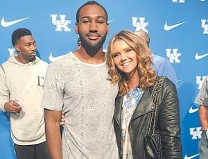 Dominique Hawkins and girlfriend, Emma Smith, found there are a lot of Kentucky basketball fans in Indiana.
