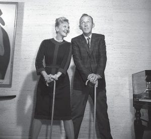 """Mary Martin and Bing Crosby finally got to sing """"White Christmas"""" together on Bing's Christmas Eve special on TV, December 13, 1962. Mary was originally scheduled to make the movie """"Holiday Inn"""" with Bing in 1941 in which they were to sing the duet. But advanced pregnancy kept her from making the picture then and delayed the duet for 21 years. (AP Photo)"""