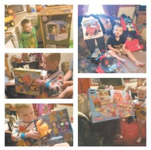 """Three-year-old Hunter Ashley is seen in this photo collage provided by his family. As the three-yearold Letcher County boy continues to battle leukemia, his parents and other family members are faced with """"astronomical"""" travel expenses from Jenkins to the University of Kentucky hospital in Lexington."""